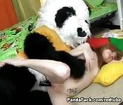 Sexy teen fucking her teddy bear