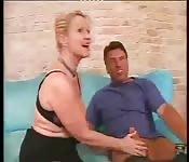 Mature blonde hard anal sex