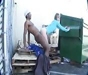 Busty slut gets black cock