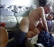 Old and happy Chinese couple makes a sex tape