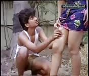 Hot Indian babe seduces the young help