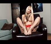 Hot fetish blonde on cam