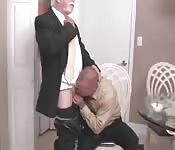 Two old men fuck each other's asses