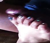 Foot fetish couple indulge