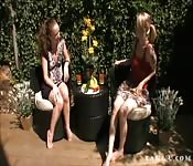 Lesbian garden session