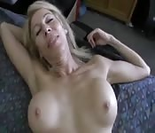Hot busty blonde milf POV