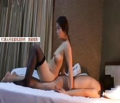 Chinese babe riding big inches
