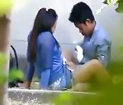 Mini dress-clad Asian tart getting her cunt fingered