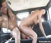 Hot Spanish back seat