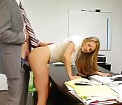 Secretary with nice ass seduces boss