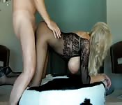 Busty blonde MILF gets dicked down