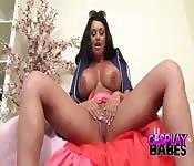 Busty babe dildo solo porn