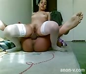 Kinky amateurs accomplish impressive positions