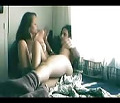 Teen couple fuck at home