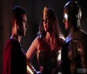 Super hero fantasy threesome