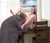 Uncouth dad banging daughter