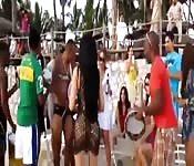 Thai beach party gets naughty
