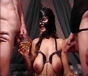 Kinky BDSM threesome