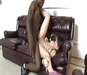 Young brunette shoots her first scene with a well-hung black man