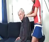 A sexy, young woman gets shagged by an older man
