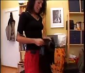 Horny mature in home sex