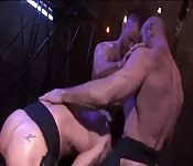 Three gays taking turns for making hot threesome fuck