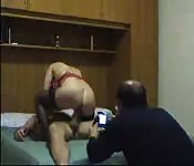 Husband records wife's cock riding moves