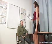 Horny Girl Fucked In The Office