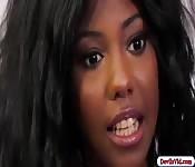 Teen ebony fucking her white stepdad