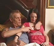 Daddy fucks step daughter