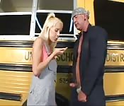 Hot teen fucks bus driver