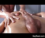 Massage turns ugly between the two studs
