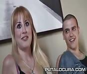 Cute blonde amateur loves sex on camera