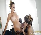 Busty Swedish teen lesbians