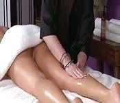 Lesbian massage sex.