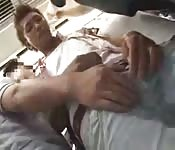 Video shows guys getting naughty on a train