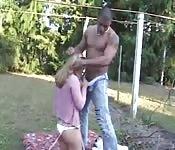 Brazilian babe fucked outside