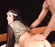 Spectacular French Arab chick fucks like a pro