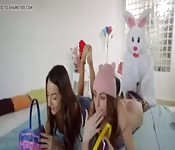 Easter Bunny Hot Threesome