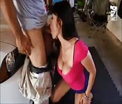 Hot Mexican babe fucked the exterminator