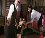 Swiss femdom threesome sex video