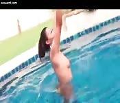 Ladyboy in the pool