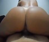 Perfect big ass babe POV
