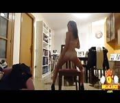 Sexy Spanish girl strip tease masterfully