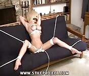 Busty blonde BDSM