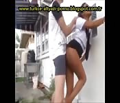 Sri Lanka schoolgirl fingered and fucked behind the bike sheds
