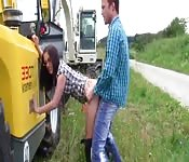 Farm slut banged