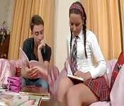 Naughty schoolgirl fucking