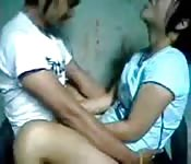 Young Indonesian couple fucking