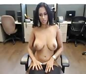 Gorgeous busty Indian solo
